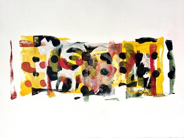 Karin Bruckner, 'SeekingSolace', 2017, Print, Gelatin monotype, mixed media, Susan Eley Fine Art
