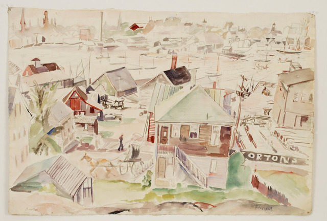 Theresa Bernstein, 'Gloucester Reminder', 1924, Painting, Watercolor, Sragow Gallery