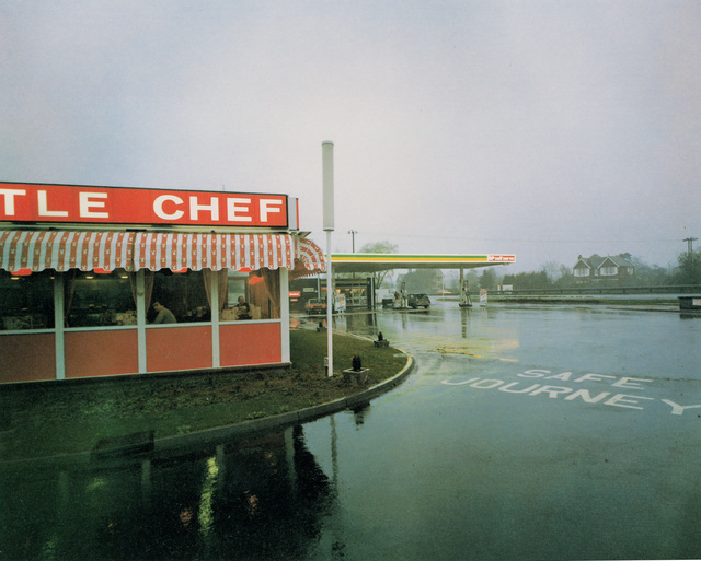, 'Little Chef in Rain St Neots, Cambridgeshire, May 1982, from the series A1 - The Great North Road,' 1981, Anthony Reynolds Gallery