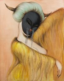 Black Mask Dancing Hair