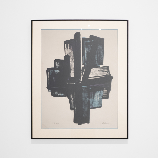 Pierre Soulages, 'Cross (Lithograph No 4)', 1957, Print, Lithograph Edition 49/60, Peter Blake Gallery