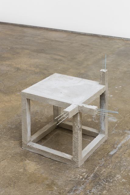 , 'Unfinished concrete chair #4,' 2015, Baginski, Galeria/Projectos