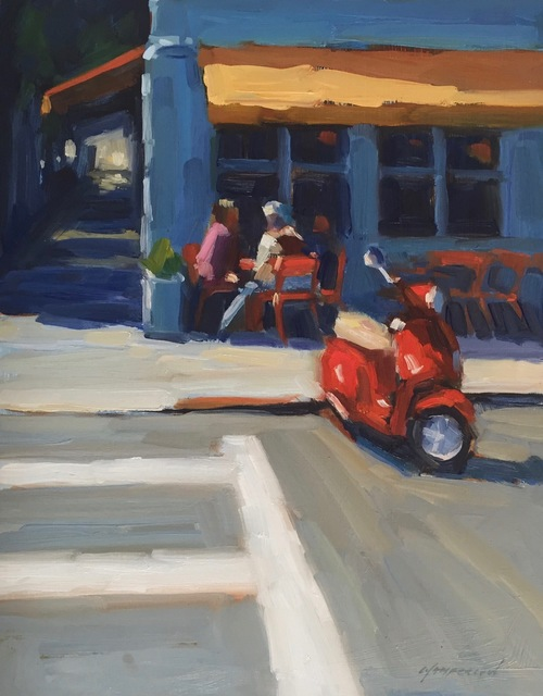 , 'Red Scooter, Hayes Valley,' 2018, STUDIO Gallery