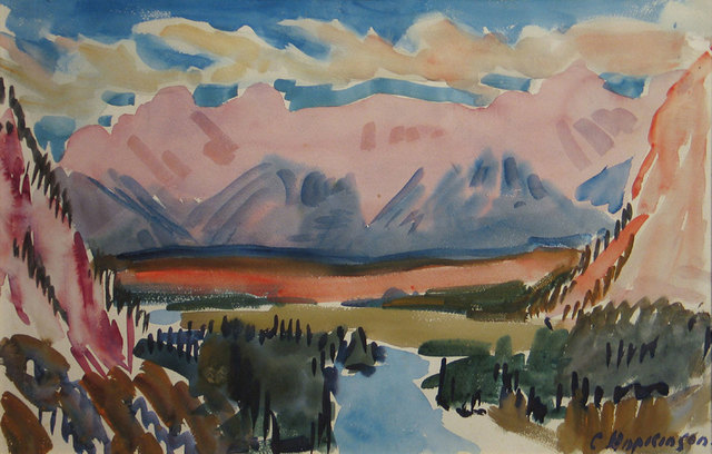 Charles Hopkinson, 'The Bow River near Banff', 1938, Vose Galleries