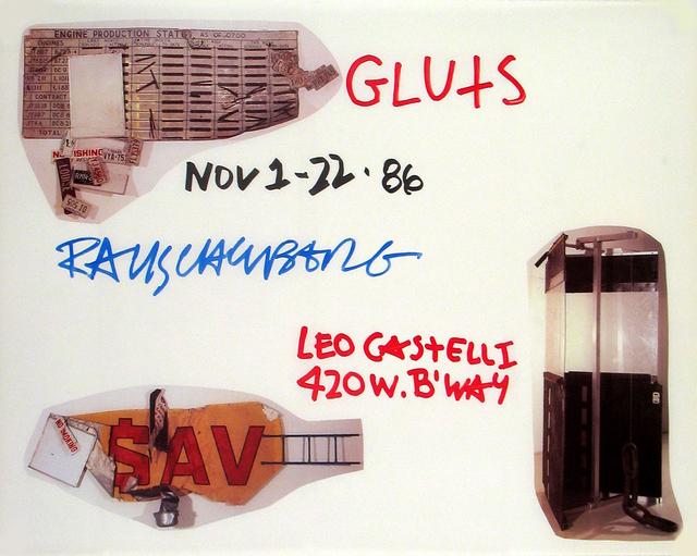 Robert Rauschenberg, 'Gluts', 1986, Ephemera or Merchandise, Offset Lithograph, ArtWise