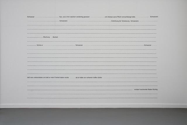 , 'SUBMERGED TEXT (THE CASTLE BY FRANZ KAFKA),' 1992, Brigitte March International Contemporary Art