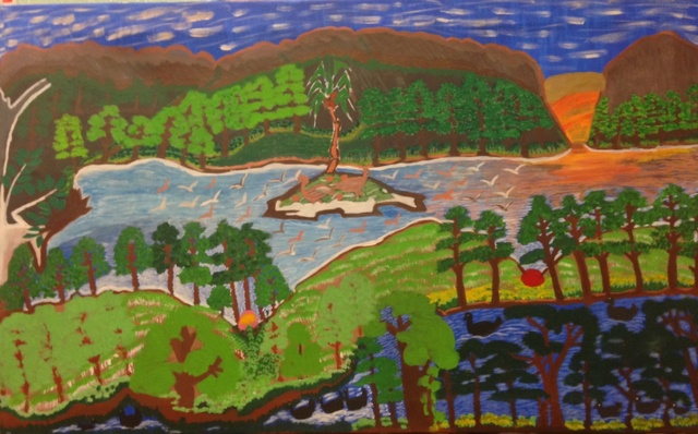 , 'Flock of Birds at the River,' 1996, Rebecca Hossack Art Gallery