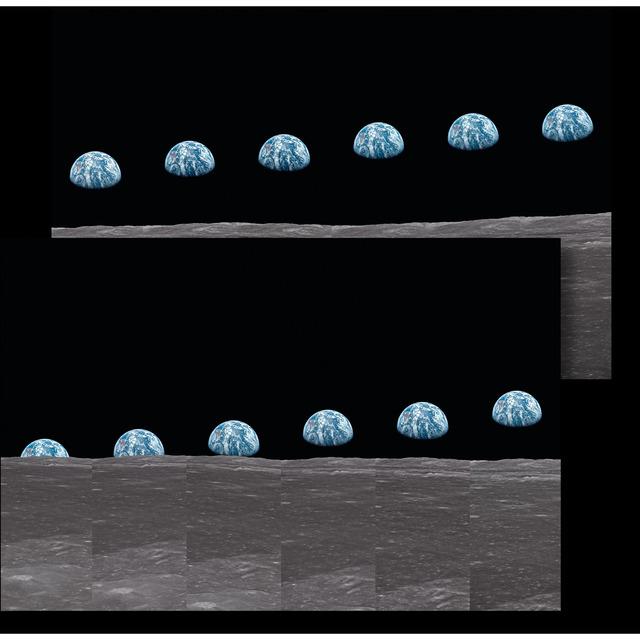 TASCHEN, 'Buzz Aldrin Print: Apollo 11 Earthrise Sequence Diptych', 2019, ÆRENA Galleries and Gardens