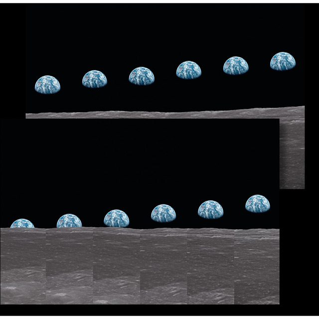 TASCHEN, 'Buzz Aldrin Print: Apollo 11 Earthrise Sequence Diptych', 2019, Print, Dye-sublimation print on ChromaLuxe aluminum panel, ÆRENA Galleries and Gardens