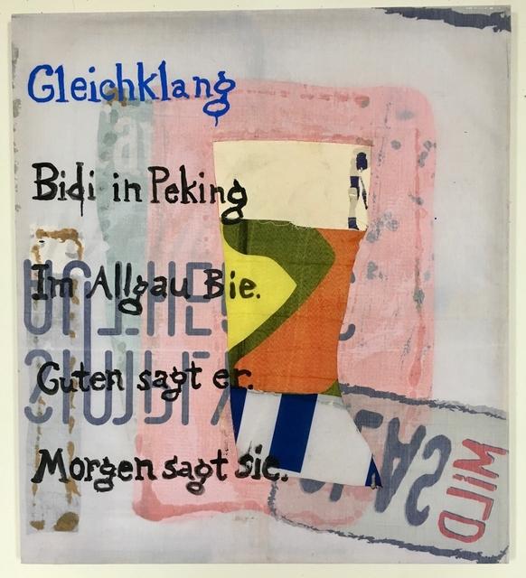 Joe Fyfe, 'Gleichklang', 2019, Galerie Christian Lethert