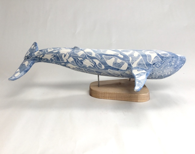 , 'Blue Whale with Dolphins,' 2019, Greenhut Galleries