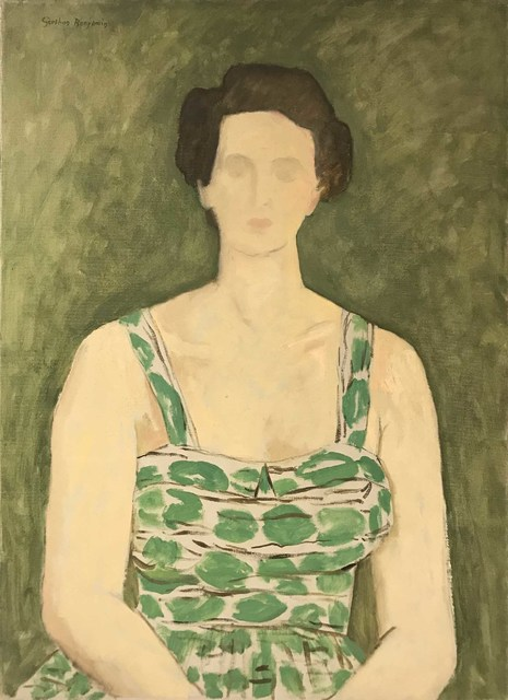 , 'A Lady in a Green Sundress,' ca. 1940, Cavalier Galleries