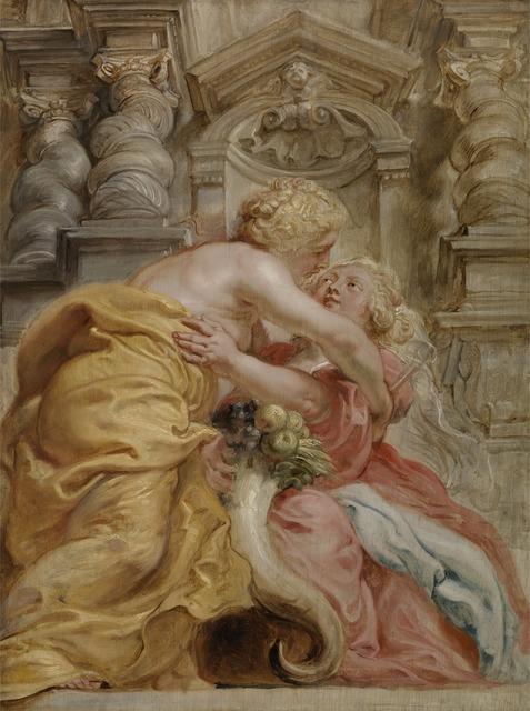 Peter Paul Rubens, 'Peace Embracing Plenty', 1633-1634, Yale Center for British Art