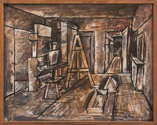 , 'Perspectiva del taller,' ca. 1936, Galería de las Misiones