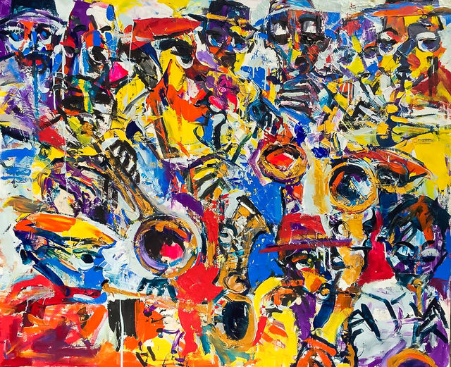 Larry Otoo, 'Blow Jazz ', 2019, Out of Africa Gallery