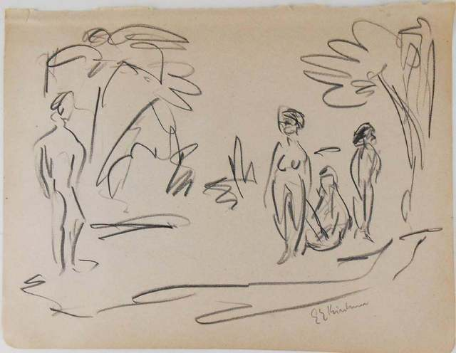 Ernst Ludwig Kirchner, 'Untitled (Pencil Drawing)', 1880-1938, Drawing, Collage or other Work on Paper, Black pencil drawing on wove paper, Seraphin Gallery