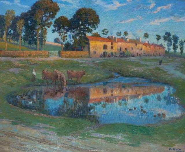 , 'COUCHER DU SOLEIL, YSSINGEAUX,' ca. 1910, Ottocento