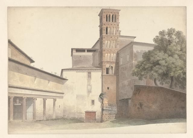 , 'Basilica and Monastery of SS. Giovanni e Paolo in Rome,' 1809-1812, Rijksmuseum