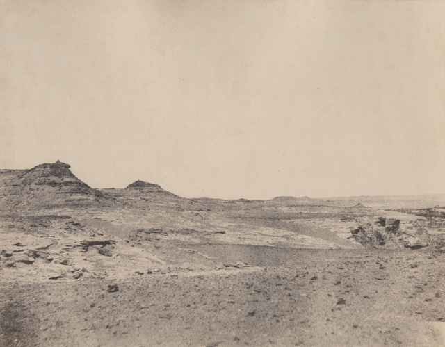 ", '""4 . Etude de terraines pres de Gebel Abousir (2e cataracte)"" ,' 1854, Lee Gallery"