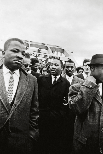 , 'Dr. King Crosses the Edmund Pettus Bridge with Reverends Ralph Abernathy and Fred Shuttlesworth,' 1965, Fahey/Klein Gallery
