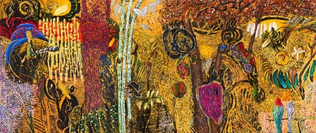 Jim Waid, 'Riparian', 1991, Painting, Acrylic on canvas (triptych), Bentley Gallery
