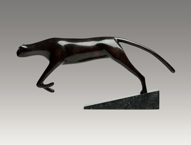 , 'Cheetah Leaping,' , Robert Hooke Sculpture Gallery