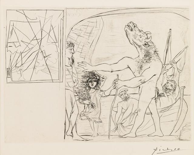 , 'Minotaure aveugle guidé par une Petite Fille aux Fleurs (S.V. 94),' 1934, John Szoke