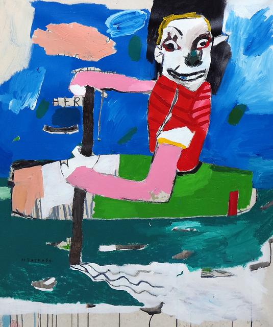, 'Blue sky from paint,' 2018, Galerie Heike Strelow