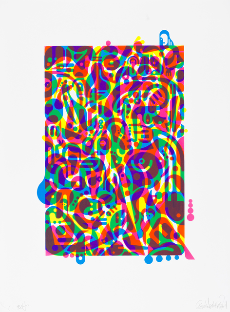 , 'Untitled (Fluorescent Women Parts) 3,' 2014, Lower East Side Printshop