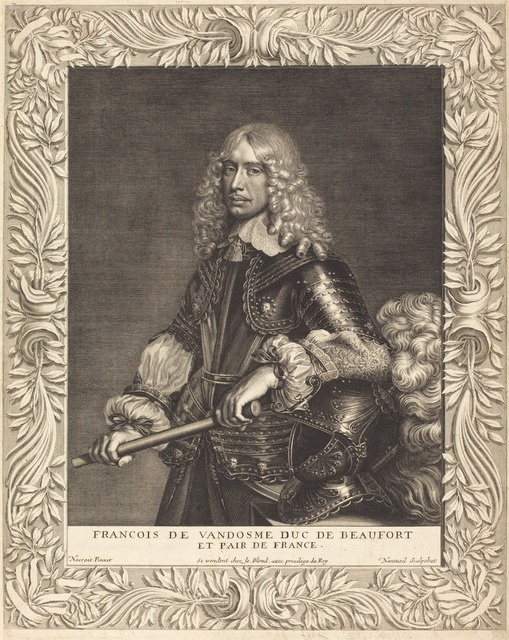 Robert Nanteuil after Jean Nocret, 'Francois, Duc de Beaufort', 1649, Print, Engraving, National Gallery of Art, Washington, D.C.