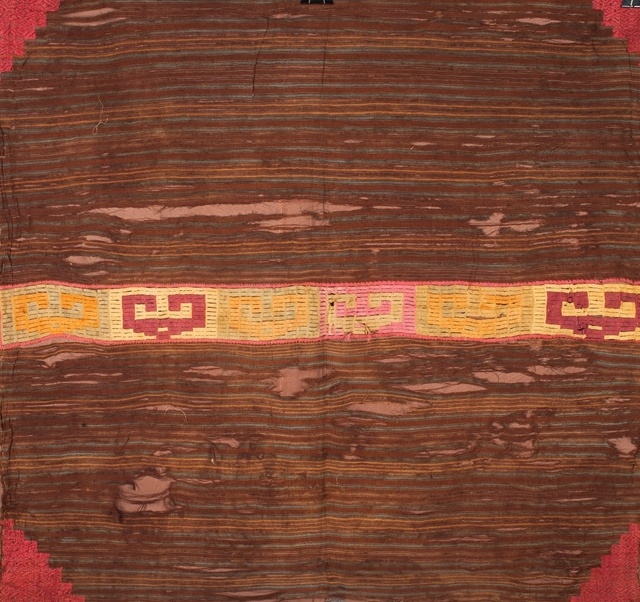 , 'Brown and Pastel Colored Textile,' 1000-1470, Muzeion Gallery