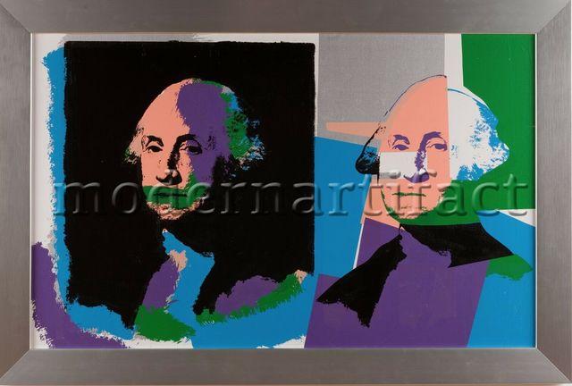 Steve Kaufman, 'Steve Kaufman Original Documented Oil Painting George Washington Large', 1996, Modern Artifact