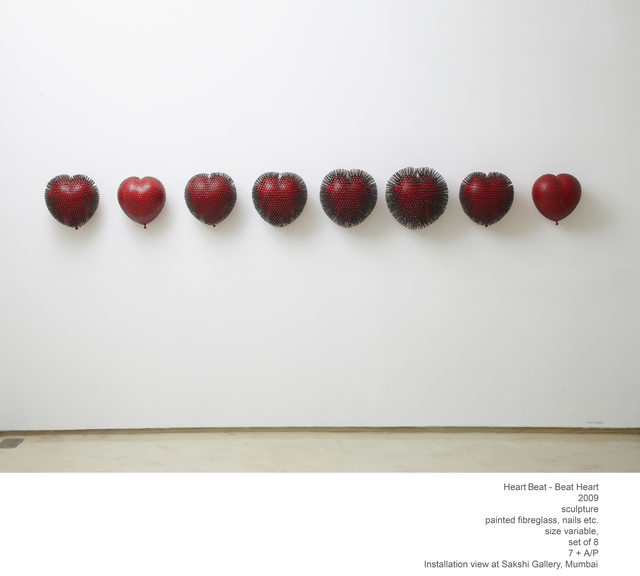 Sunil Gawde, 'Heart Beat...Beat Heart', 2009, Sculpture, Painted fiberglass, nails., Double Square Gallery