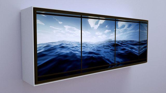 , 'Aegean Crossing Triptych,' 2015, Bryce Wolkowitz Gallery