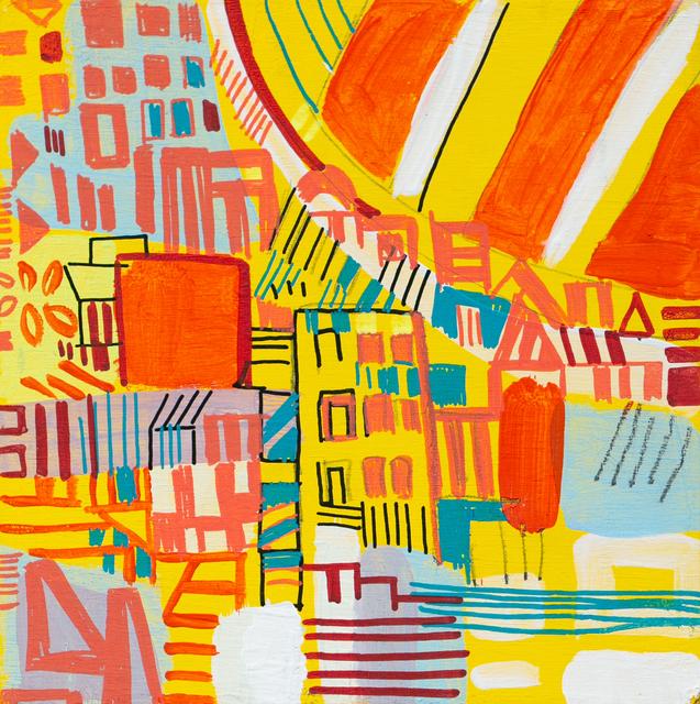 Miriam Singer, 'Yellow Hill', 2019, Painting, Pencil, marker, acrylic on panel, Paradigm Gallery + Studio