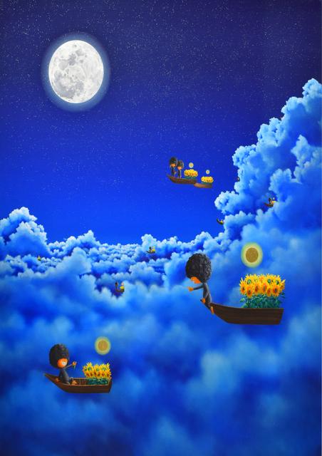 Shiro Utafusa, 'Full Moon', 2019, Painting, Oil on canvas, Art WeMe Contemporary Gallery