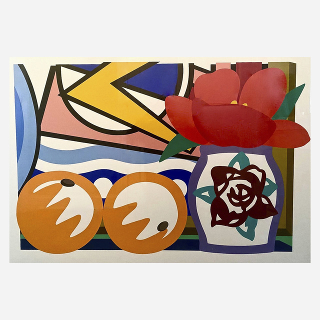 Tom Wesselmann, 'Still Life With Lichtenstein And Two Oranges', 1993, Print, Screenprint in colors on museum board, Artsy x Rago/Wright