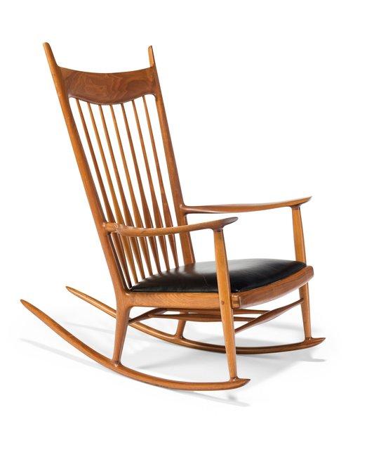 Magnificent Sam Maloof Rocking Chair 1959 Artsy Creativecarmelina Interior Chair Design Creativecarmelinacom