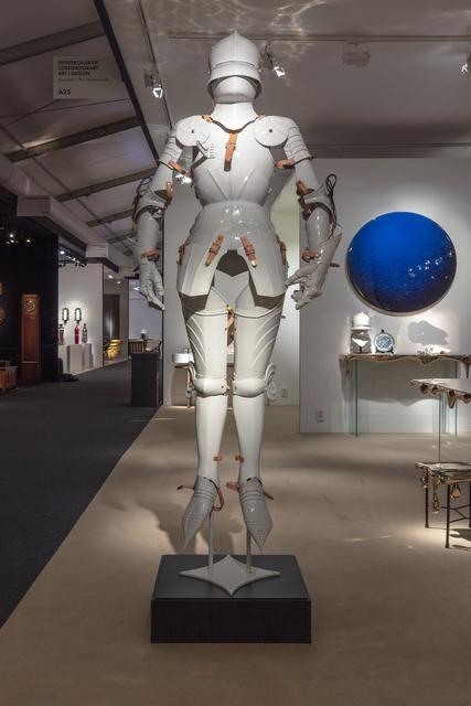 Hans van Houwelingen, 'Armor I', 2019, Installation, Porcelain, harnesses, Priveekollektie Contemporary Art | Design