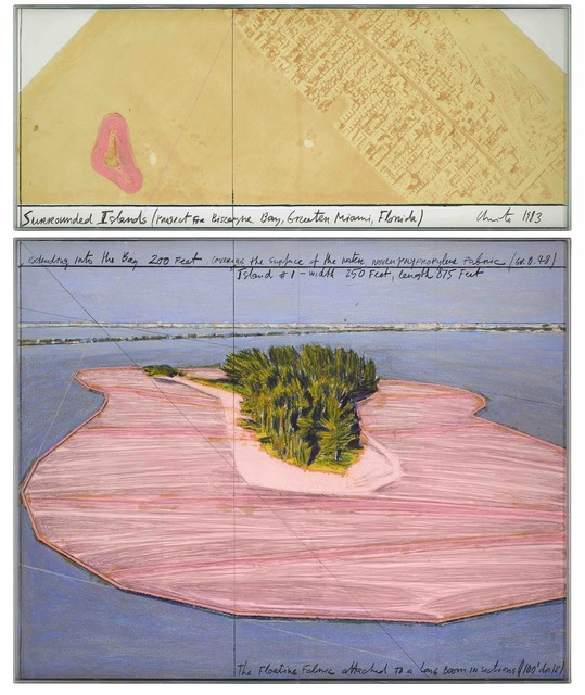 , 'Surrounded Islands (Project for Biscayne Bay, Greater Miami, Florida),' 1983, Stern Pissarro