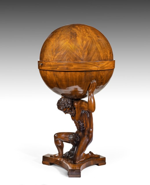 , 'Viennese Carved Mahogany Globe-Form Work Table or Globustisch,' 1810-1820, Thomas Coulborn & Sons