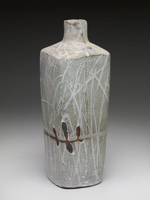 , 'Square vase, nuka glaze over iron slip with brush decoration,' , Pucker Gallery