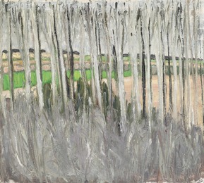 """Lyse stammer, Foraar"" (Bright tree trunks, spring), Bornholm"