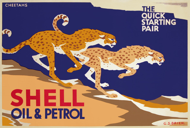 , 'Shell Oil - The Quick Starting Pair - Cheetahs ,' ca. 1925, Omnibus Gallery
