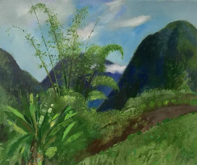 Rene Genis, 'Nuages dans les bambous', 1985, Painting, Oil on canvas, Artioli Findlay