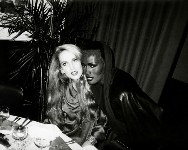 , 'Andy Warhol, Photograph of Jerry Hall & Grace Jones, 1985,' 1985, Hedges Projects