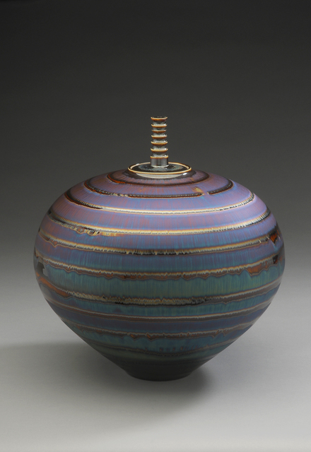 , 'Covered Vase, blue hare's fur and brown glaze,' , Pucker Gallery