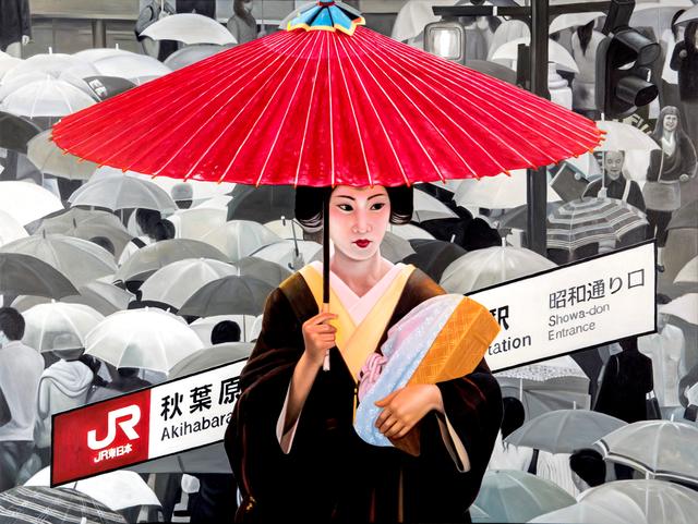 , 'red umbrella,' 2011, Galerie Jacob Paulett