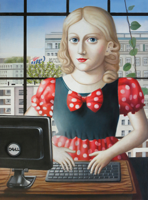 , 'Girl with Computer,' , Front Room Gallery