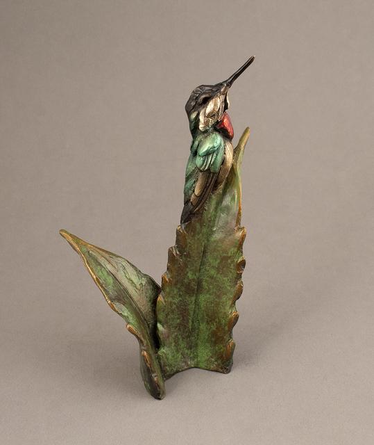 Bryce Pettit, 'Hummingbird on Agave', 2018, Sculpture, Bronze, Blue Rain Gallery